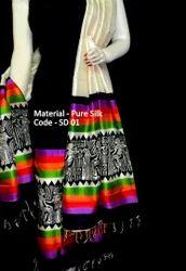 Printed PM Silk Suit Material