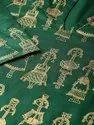 Printed Rayon Gold Print Fabric