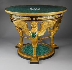 Bronze And Malachite Side Table Top
