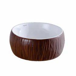 Arroz Ceramic Designer Table Top Wash Basin, For Home