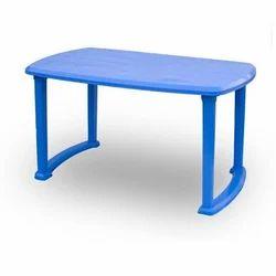 Blue Plastic Restaurant Table