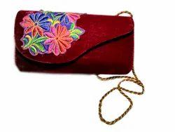Iqra Creation Printed Ladies Velvet Hand Bag