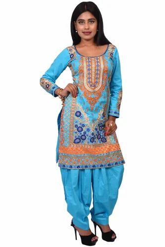 59880edc18 Wedding Wear Glace Cotton Punjabi Salwar Suit, Rs 2500 /piece   ID ...