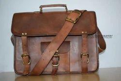 Brown Honey Leather Exporters Vintage Genuine Leather Laptop Brief