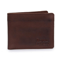 Leather And Denim Billfold Wallet