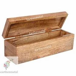 Rectangle Wooden Box with Hinge and Lock