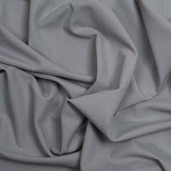 Grey Plain Polyester Knitted Fabric