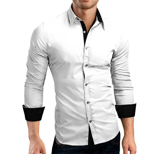 Mens Designer White Shirt Gents Designer Shirt प र ष क