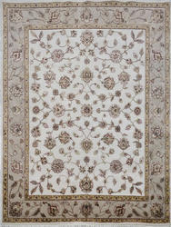 Light Ivory Classic Wool Silk Area Rugs
