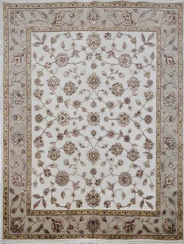 Light Ivory Clic Wool Silk Area Rugs