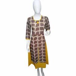 Womens Round Neck Designer Kurti