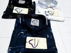 Collar Neck Mens Casual Shirts, Size: M L XL