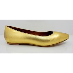 d979756b4401 Golden Flat Casual Bellies Shoes with PU Sole