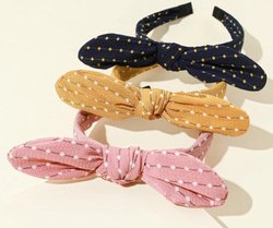 Polka Dots Fabric Hair Bands