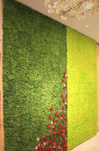 PE Green Artificial Wall Grass