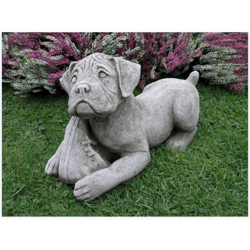Gentil Boxer Dog Garden Statue, Usage: Exterior Decor