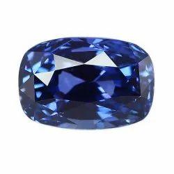 VVS1 Clarity Cushion Cut Natural Ceylon Blue Sapphire