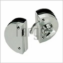 Glass to Glass Lock with One Side Lock and Other Side Knob (Round Shape)