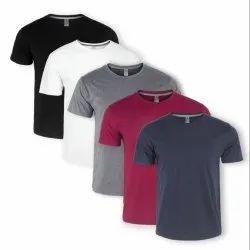 Mens Half Sleeve Cotton Round Neck T Shirt