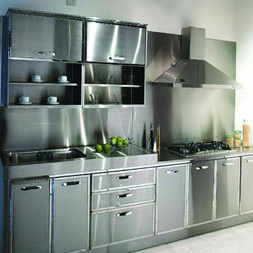 stainless steel kitchen cabinets india stainless steel kitchen cabinet at rs 70000 8251