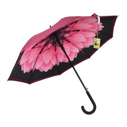 Inside Flower Design Single Fold Umbrella
