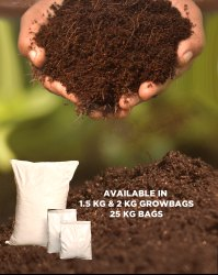 Fibre Family Dark Brown To Black Organic Coco Peat Compost & Potting Soil, For Agriculture, Powder