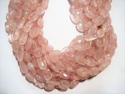 Wholesale Rose Quartz Oval Natural Stone Beads