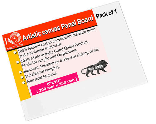 03x03 Upto 48x48 Off White Canvas Panel Board Rs 720 Pack Id