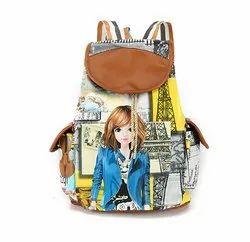 Girl Printing Fashion Backpack