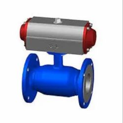 Flanged End Pneumatic Ball Valve