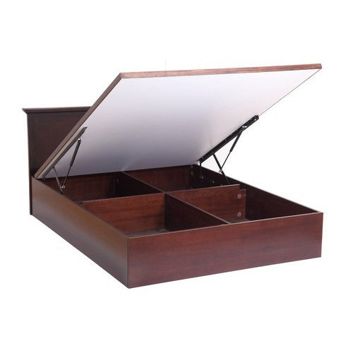 ce76929750c6 J S Furniture Brown Hydraulic Lift Up Double Storage Bed, Rs 32000 ...