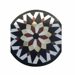 Round Polished Decorative Marble Circle, Thickness: 5-10 mm