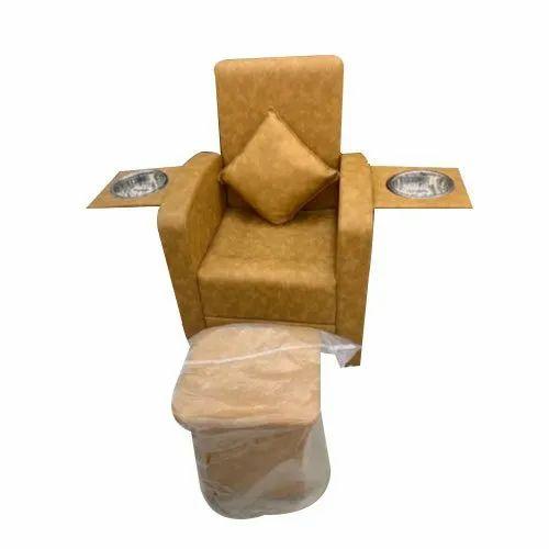 Brown Manicure Salon Chair
