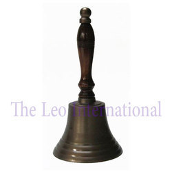 Nautical Brass Handle Bell Antique Finish