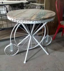 Round Shape Wooden Top Dinning Tables for Restaurant