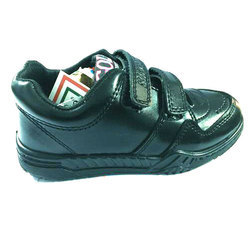 Black Boy Kids School Shoes, Size: 8 And 9