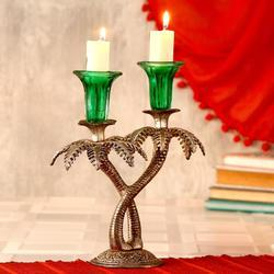 Double Khajoor Candle Stand