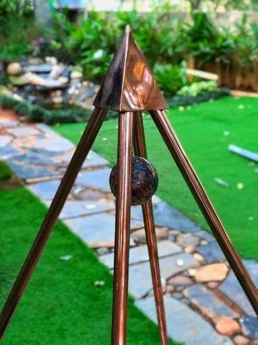 Copper Nubian 3 Feet Meditation Pyramid portable