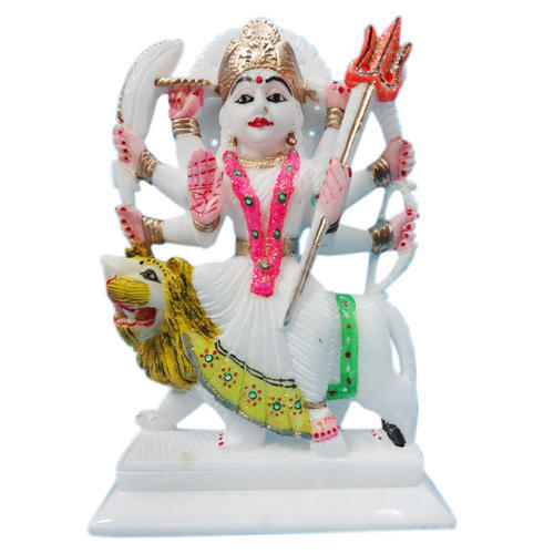 Jagdamba Home Decor Marble Durga Mata Statue