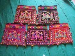 Embroidered Big Umbrella Design Handbag