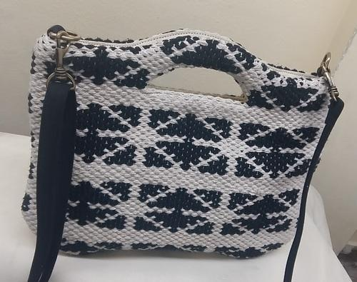 1cc8e5ee53 Black & White Mix 100% Cotton Hand Made Hand Loom Dari Bag, Rs 640 ...