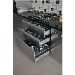 Straight Metal Modular Kitchen