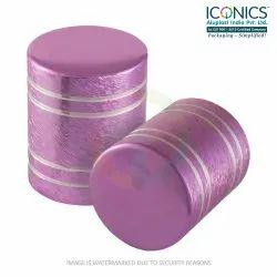 Round Screw Pink Aluminum Perfume Cap
