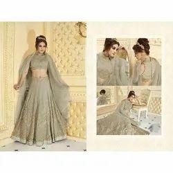 Georgette Shiroya Ladies Bridal Wear Lehenga Choli, Size: Free Size