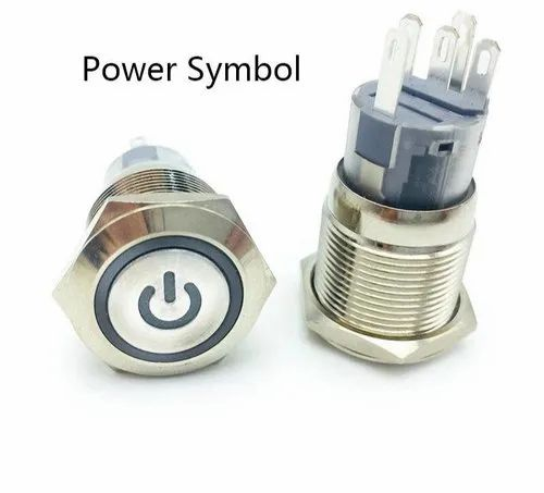 Socket Plug+16mm RED MOMENTARY Button Metal Switch 12V LED Power