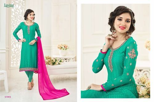 05d7372553 Designer Georgette Suits (LAVINA 57) at Rs 1095 /piece | Georgette ...
