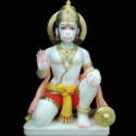 Seating Marble God Hanuman Statue