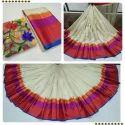 Border Designed Handloom Pure Cotton Saree