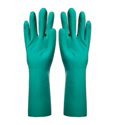 Nitrile Unlined Rubber Hand Gloves