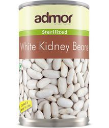 Indian Admor Canned White Kidney Beans, No Artificial Flavour, Packaging: Carton